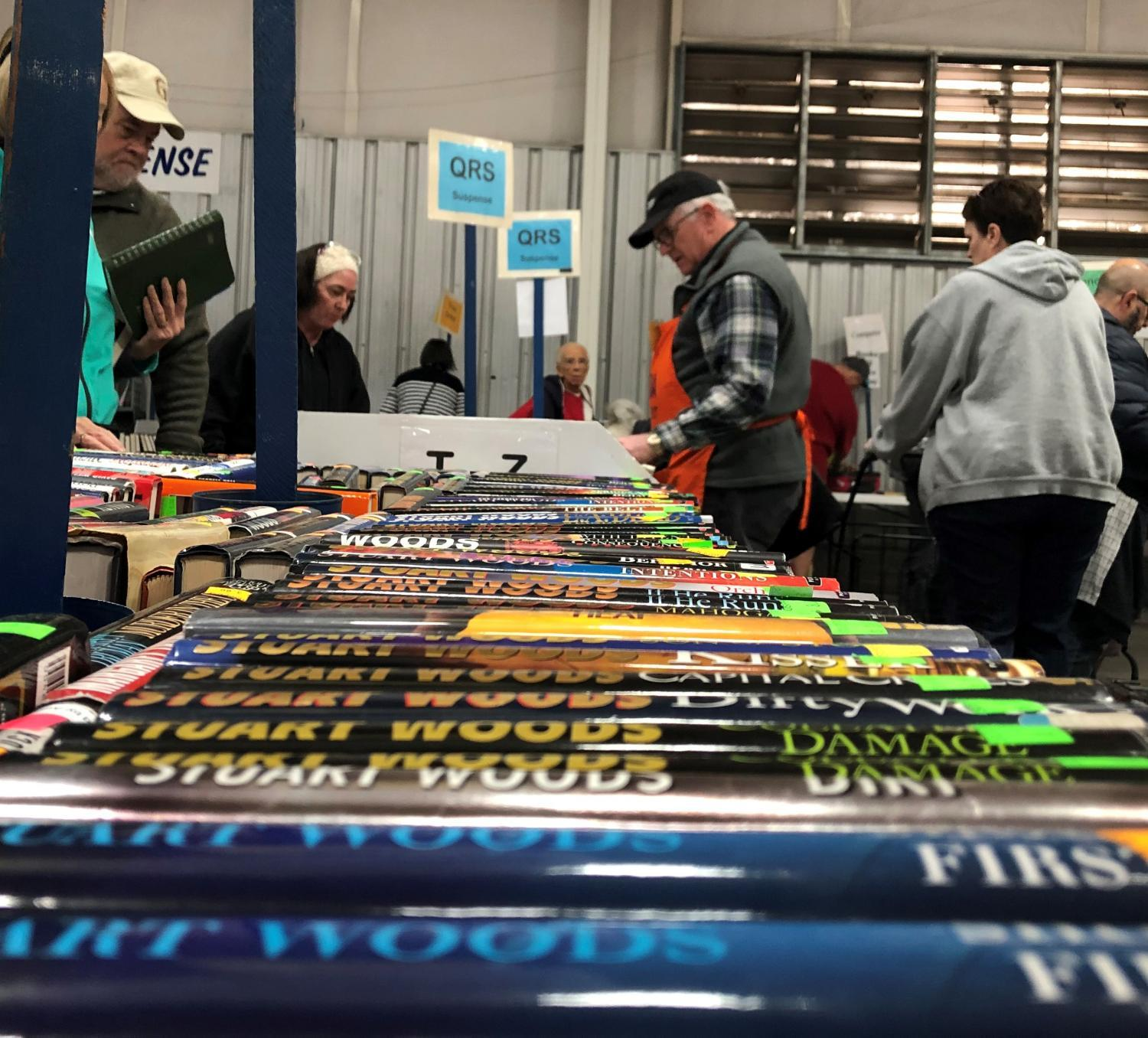 People peruse hundreds of thousands of books at the 63rd annual VNSA book fair.
