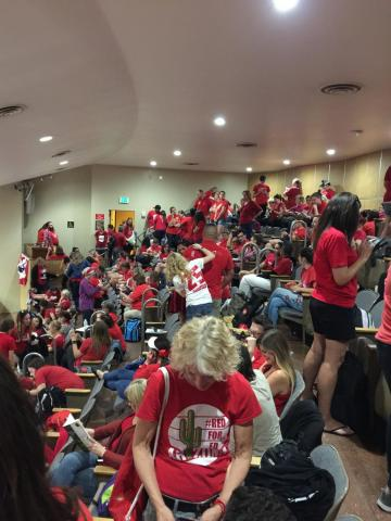 #RedForEd teachers in the Arizona Capital