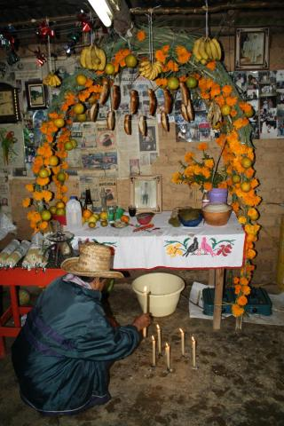 traditional home altar