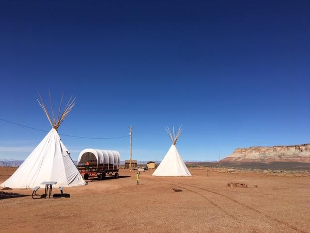 Teepees at Arrowhead campground