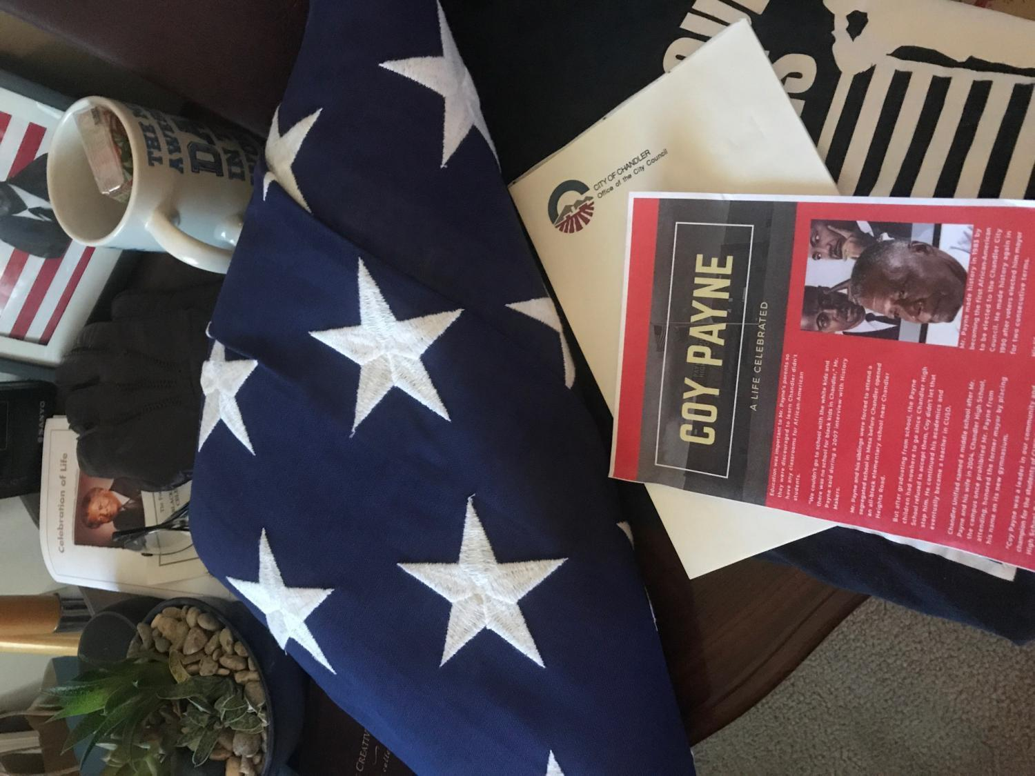 flag and book