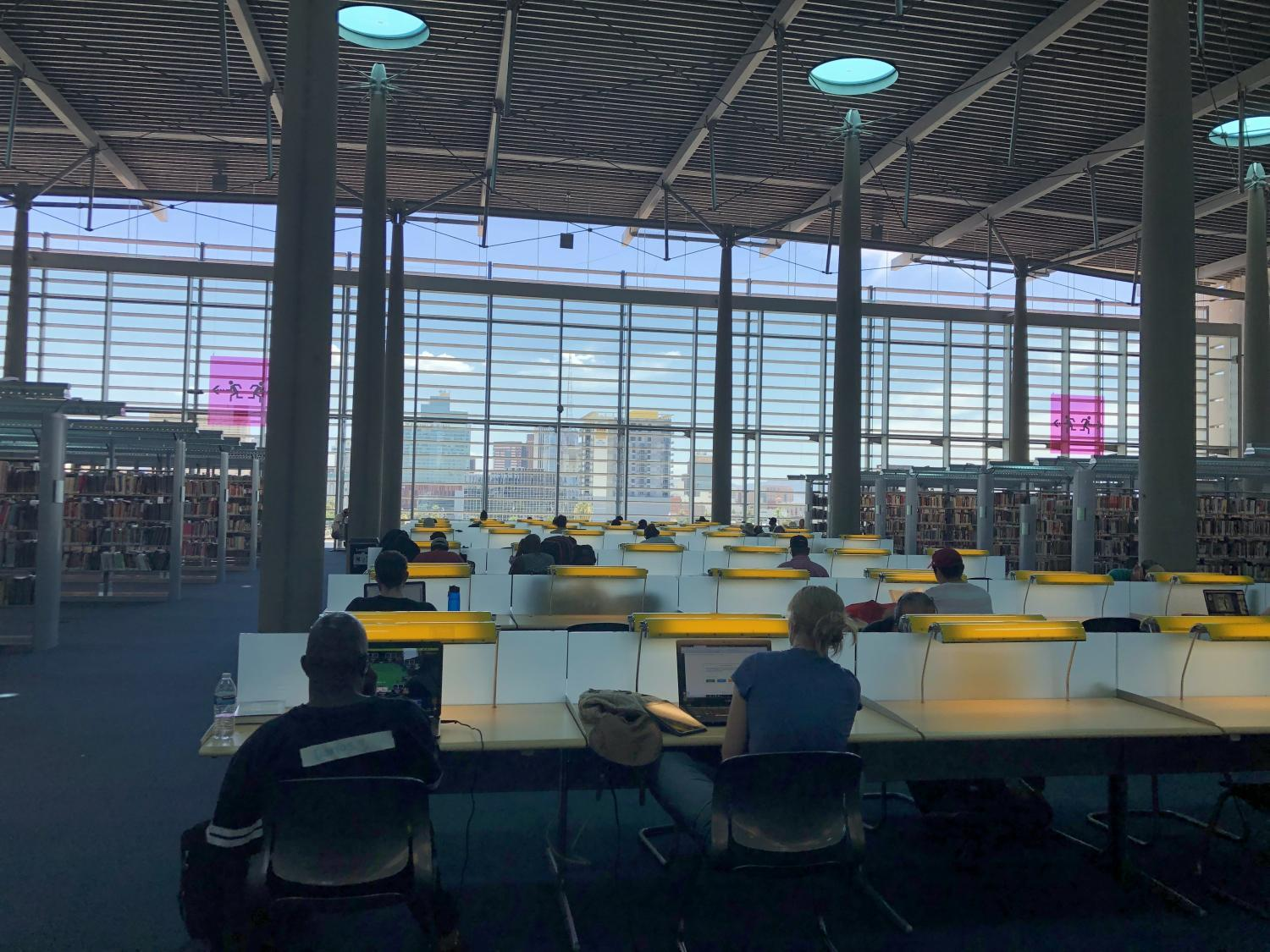 The reading room at Burton Barr Central Library