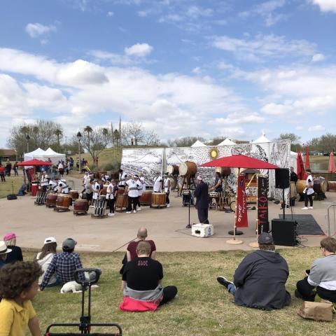 A Taiko Drum concert at the 36th Annual Matsuri Festival in Phoenix.