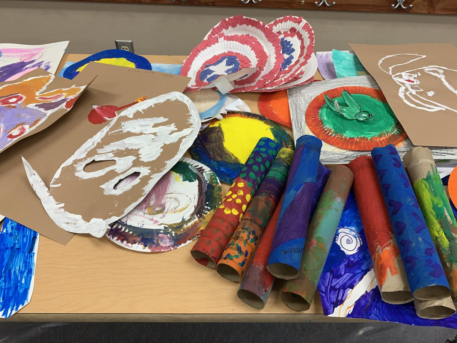 Art projects at Camp Challenge