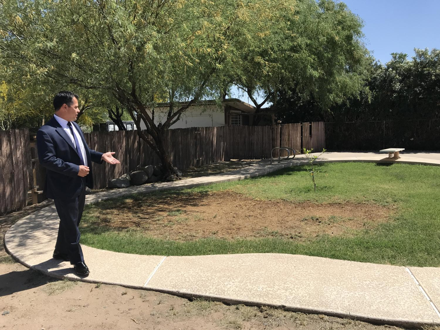 Vidales shows horse property with filled in pool