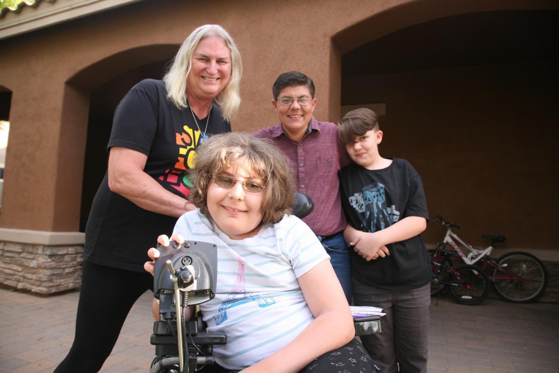 Family photo of Shirley Austin, Daniel Harrot, Mason and Joshua