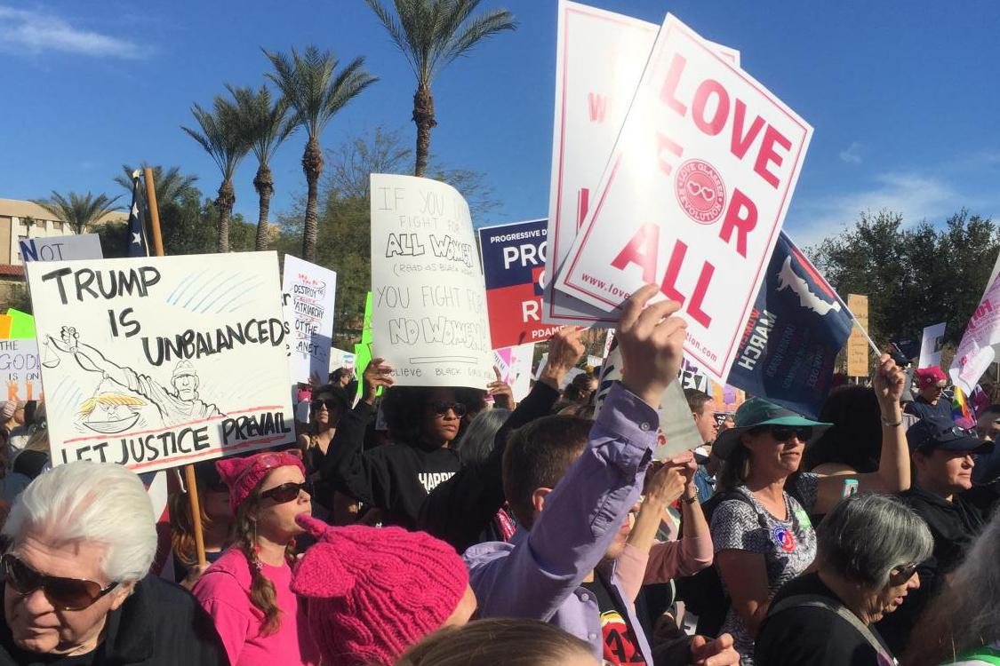 Marchers take to the street for the 3rd annual Women
