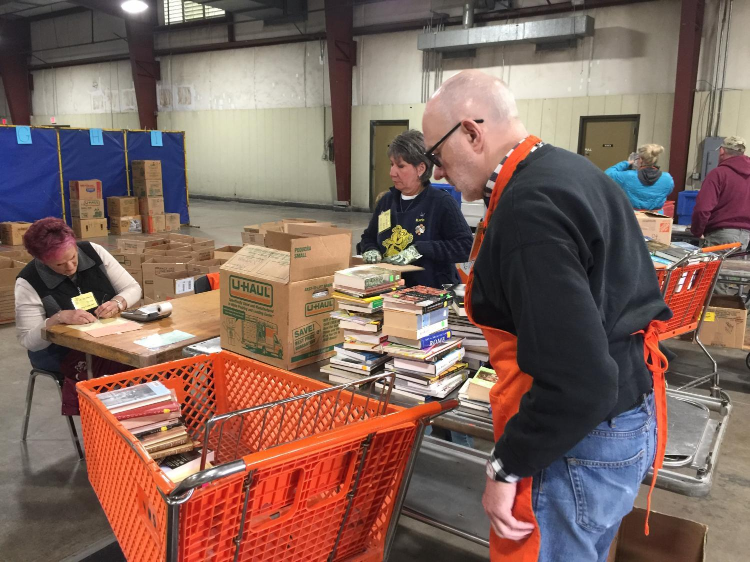 Shoppers browse the 63rd annual VNSA Book Sale