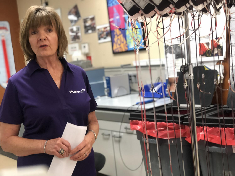 Sue Thew of blood provider Vitalant