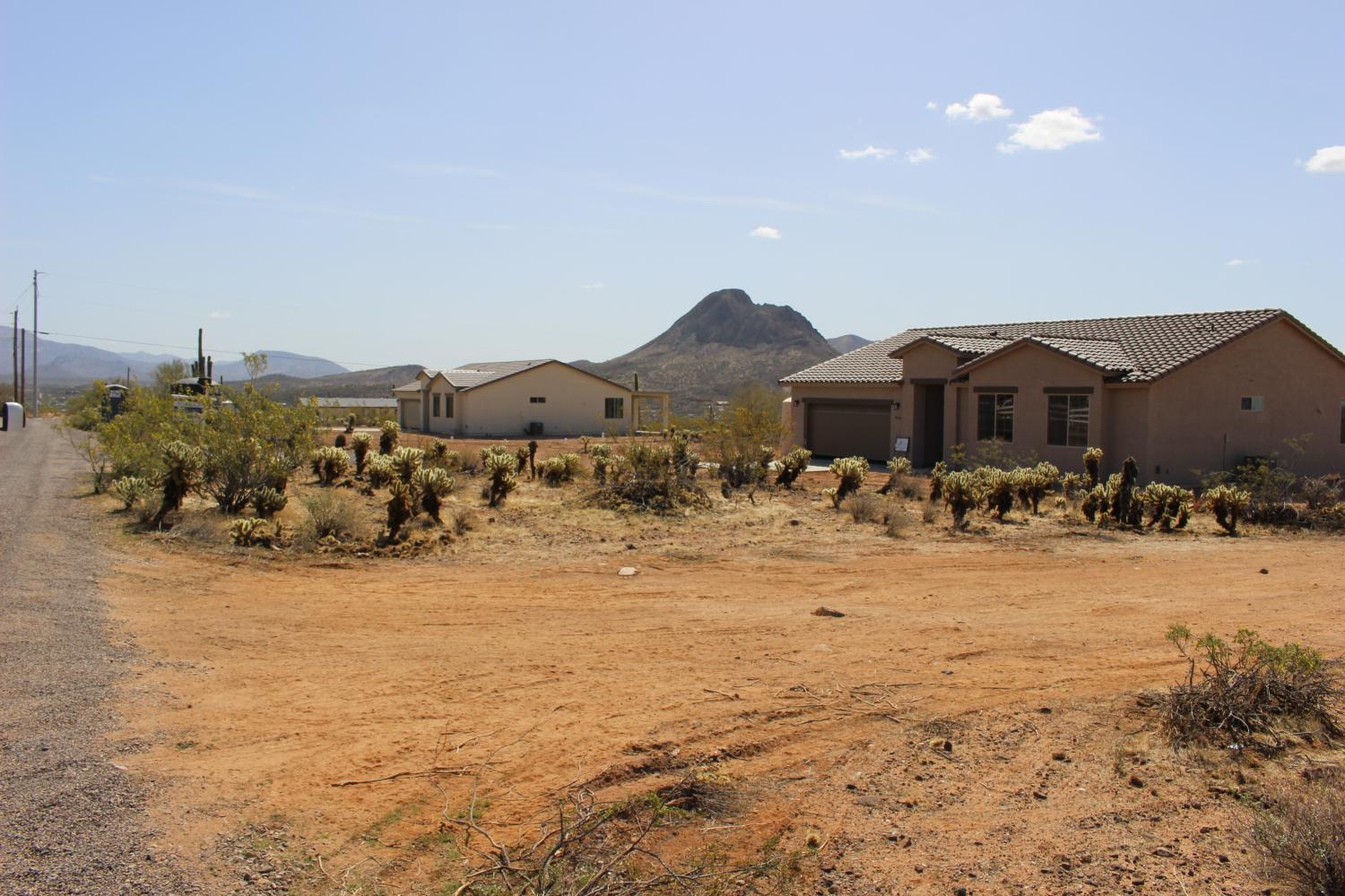 Three of the four new houses in Ron Bentley