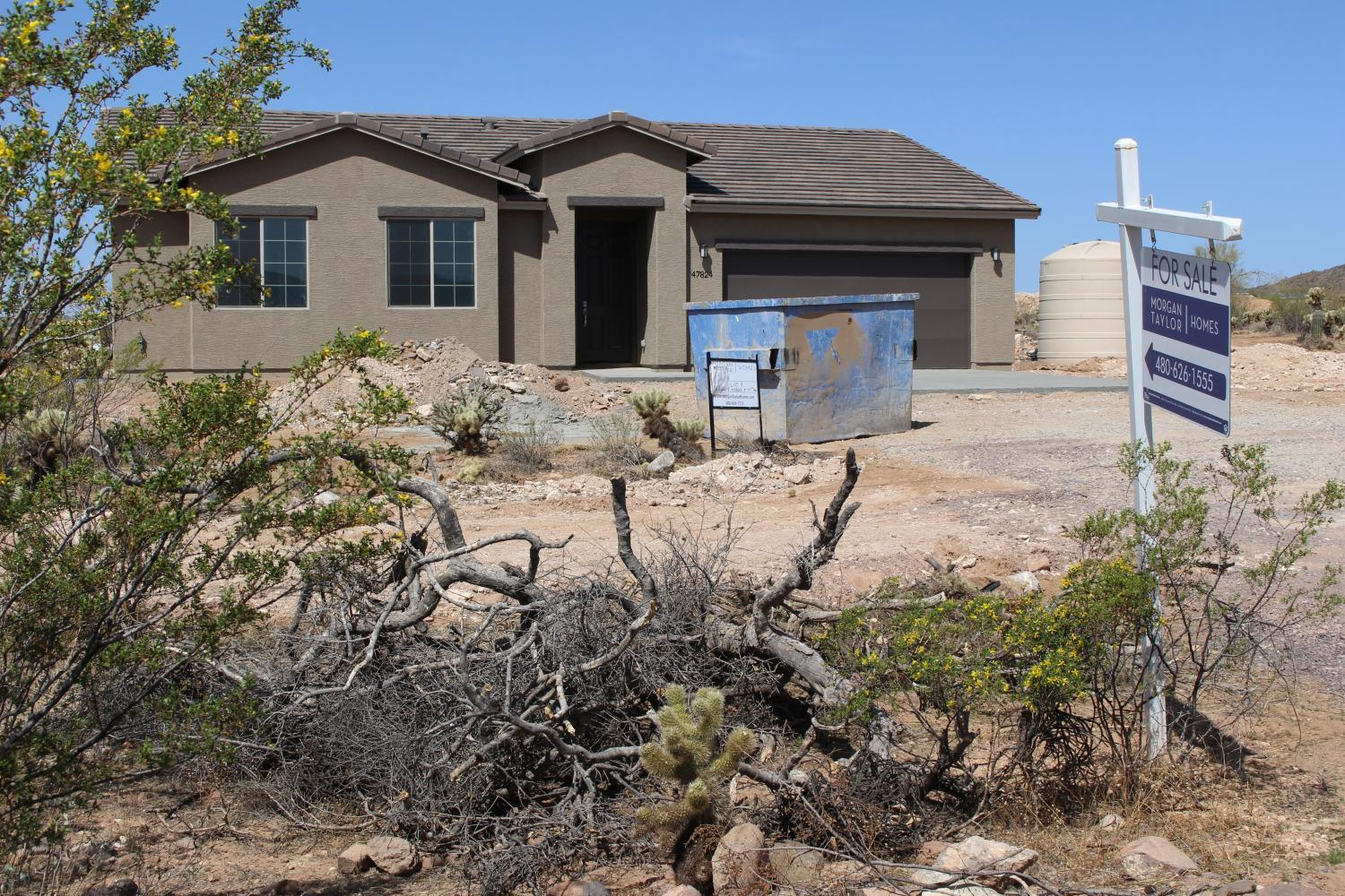 Neighbors of the new homes have been pushing Maricopa County and Arizona state officials to look into possible attempts to avoid subdivision rules. New River, April, 2018.