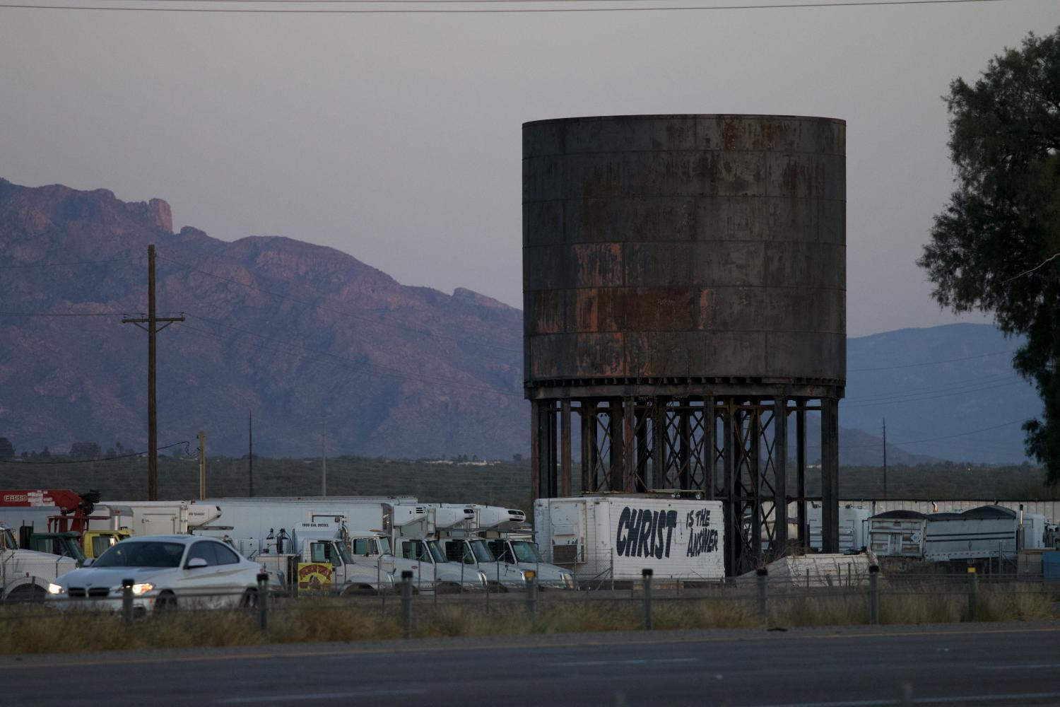 Southern Pacific Railroad Water Tower Rillito AZ Arizona