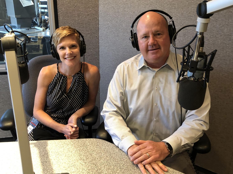 Julie Erfle and Doug Cole in studio.