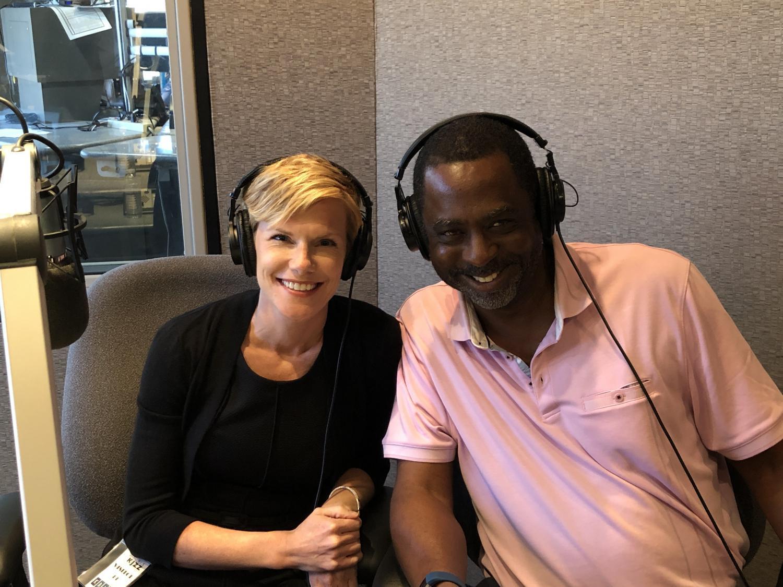 Julie Erfle (left) and Vernon Parker