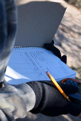 Researchers record measurements