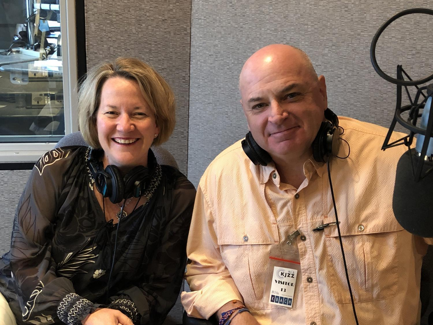 Kris Mayes (left) and Chuck Coughlin spoke to KJZZ