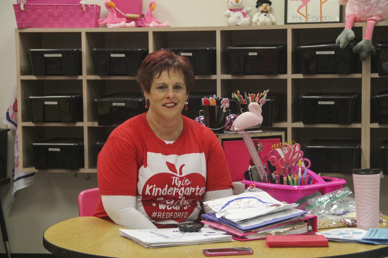 Kindergarten teacher Kelley Fisher