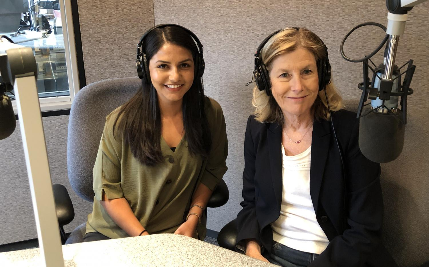 Lorna Romero and Laurie Roberts in studio.