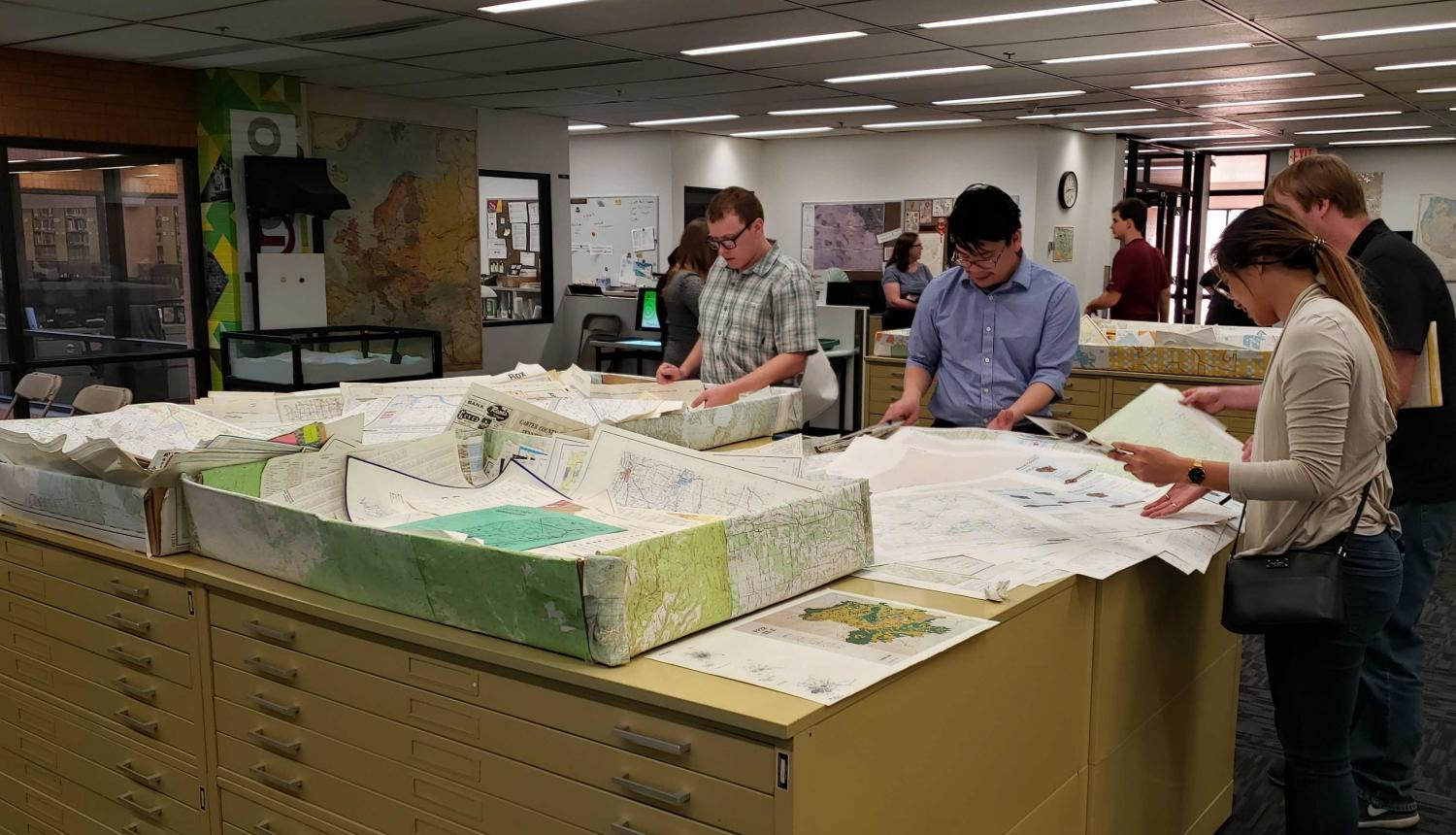 A-S-U's, Library Map and Geospatial Hub giving away hundred of maps