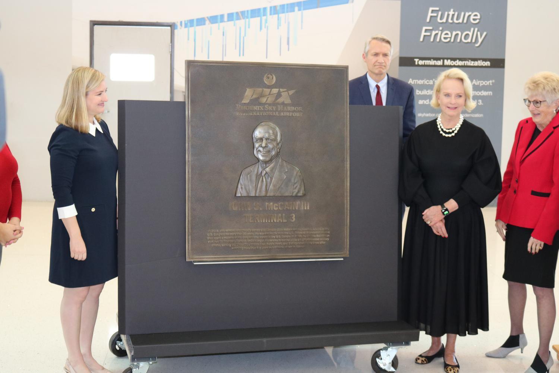U.S. Sen. John McCain plaque