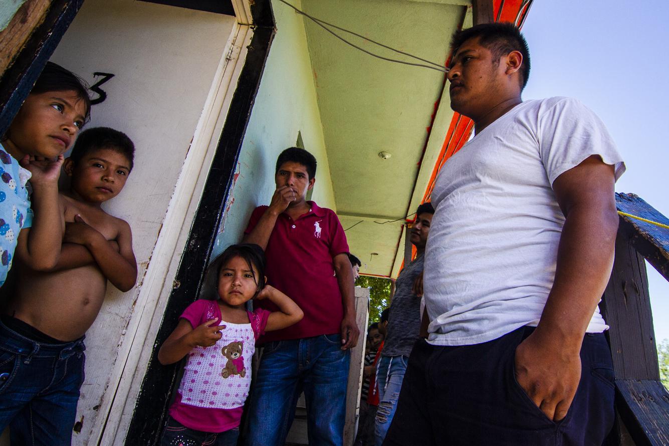 Several families of asylum seekers
