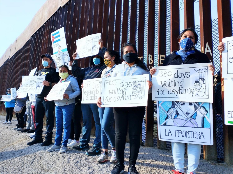 Asylum seekers urge Biden to change U.S. policies