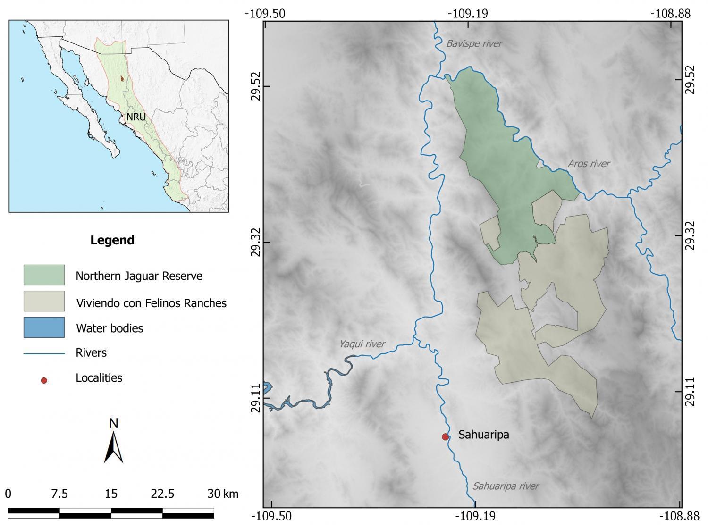 Northern Jaguar Reserve map
