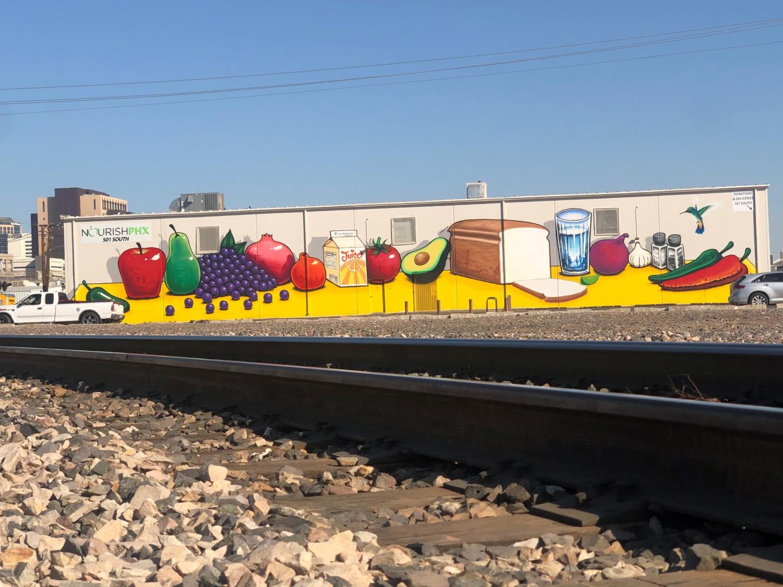 nourish phoenix mural
