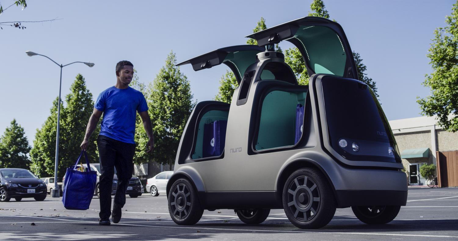 A self-driving Nuro vehicle