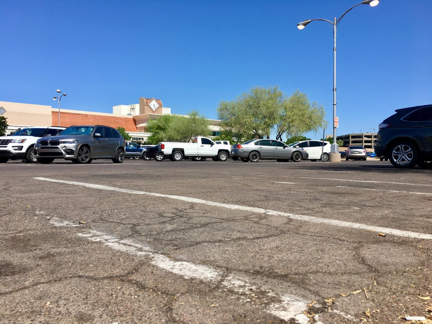 Park Central Mall parking lot