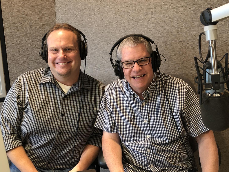 Paul Bentz and Chris Herstam in studio