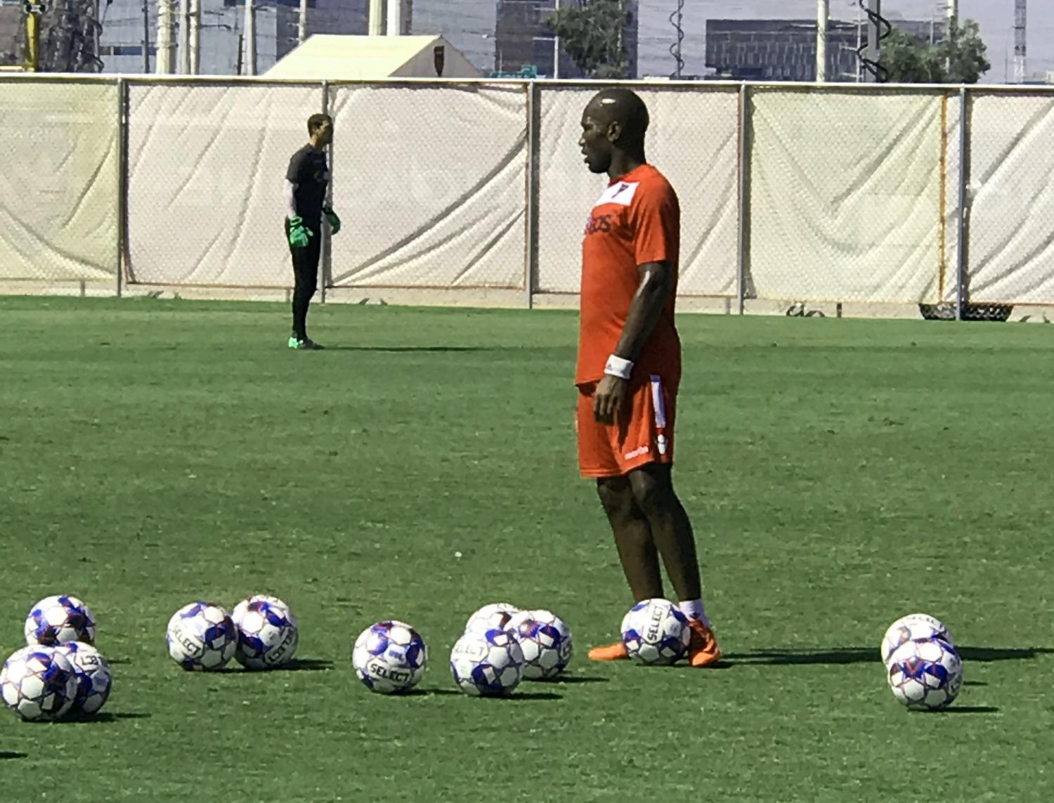 Phoenix Rising midfielder and co-owner Didier Drogba