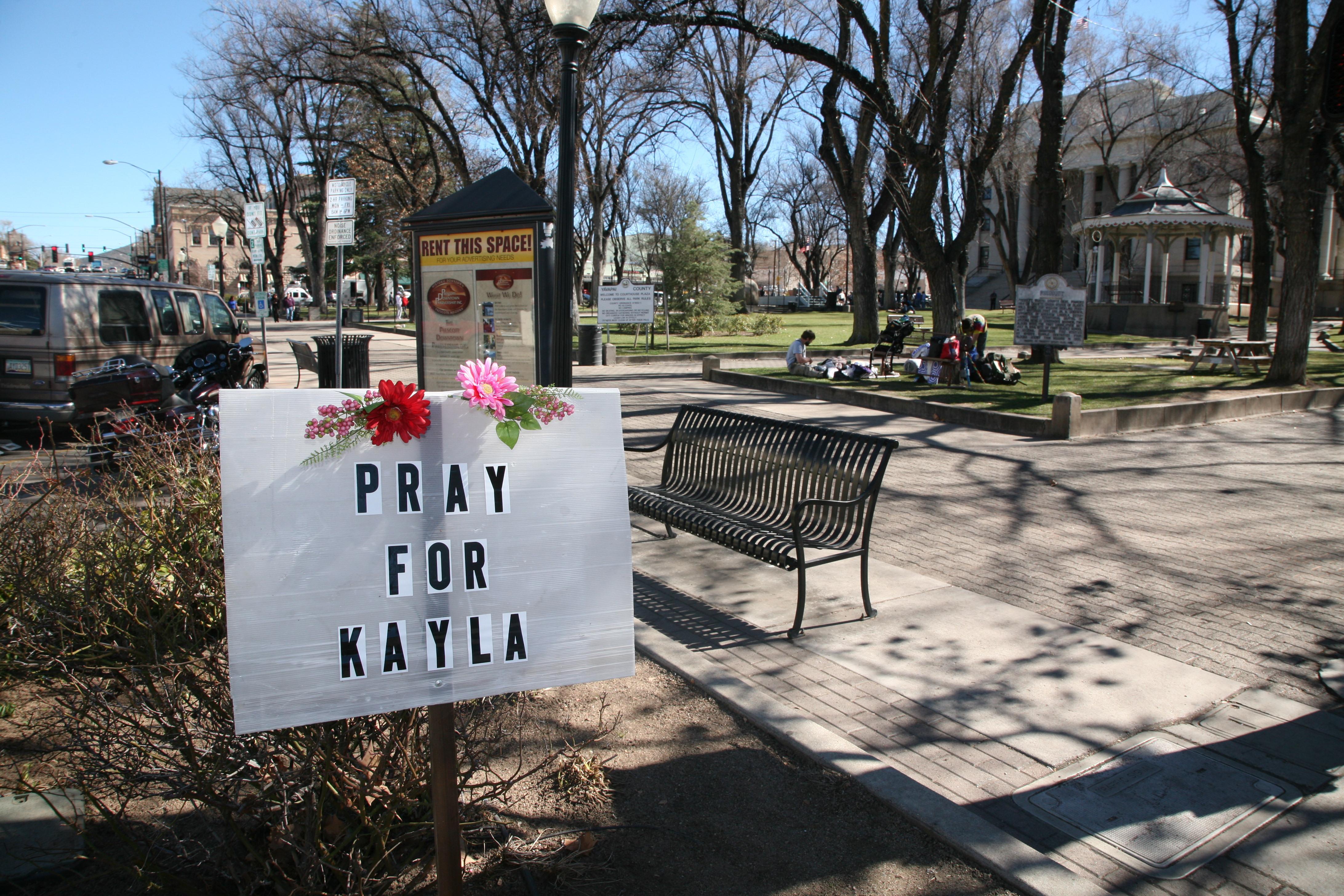 A sign for Kayla Mueller