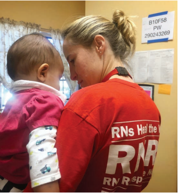 Missy Gilbert, an RN from Maryland, at Casa Alitas shelter in Tucson.
