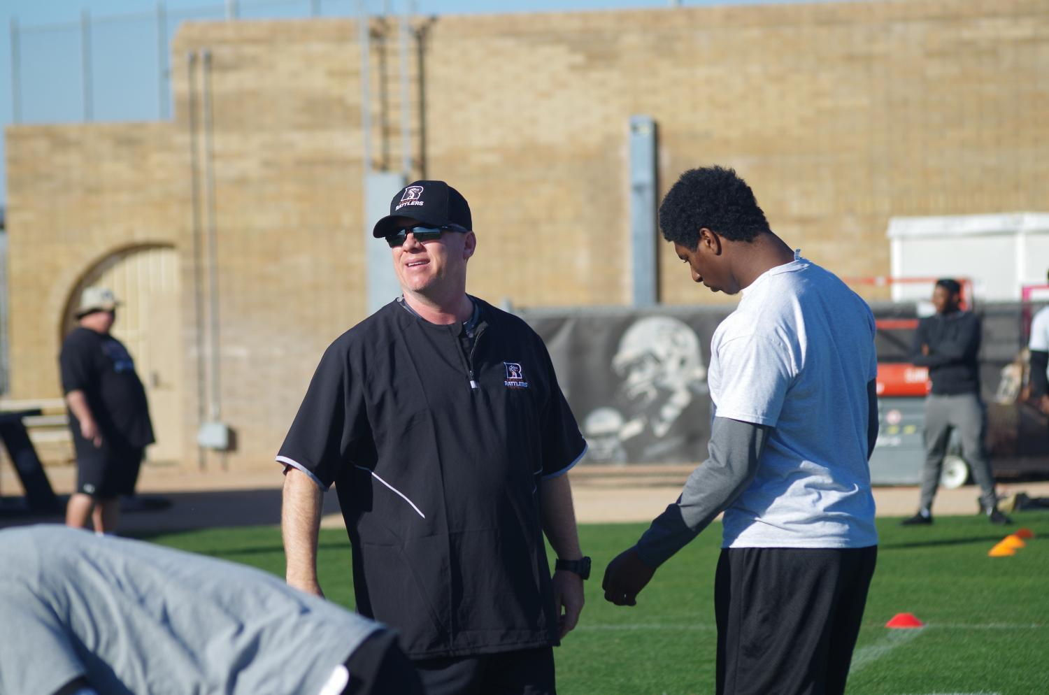 Rattlers Head Coach Kevin Guy and Quarterback Jeff Powell