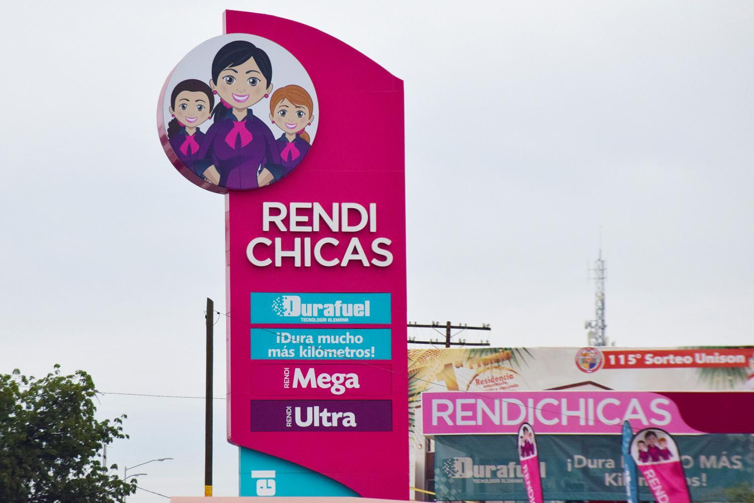 RendiChicas gas station sign