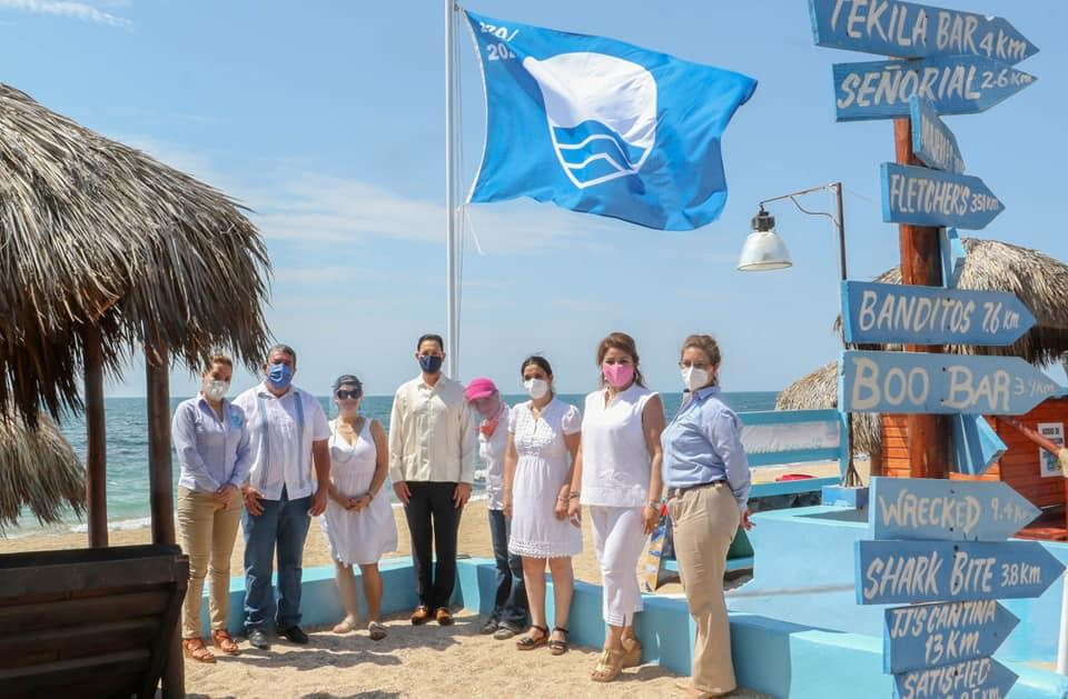 Rocky Point puts up Blue Flag