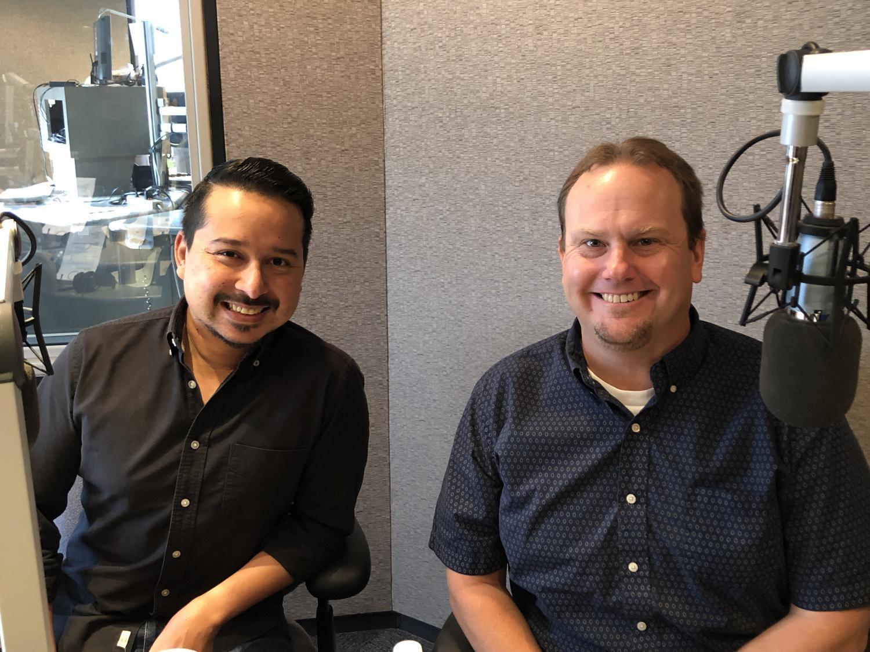 Roy Herrera and Paul Bentz in studio