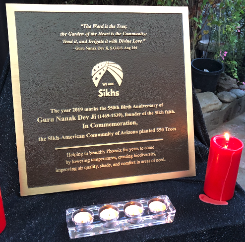 One of the plaques that will be placed in each of four Phoenix neighborhoods that received the donations.