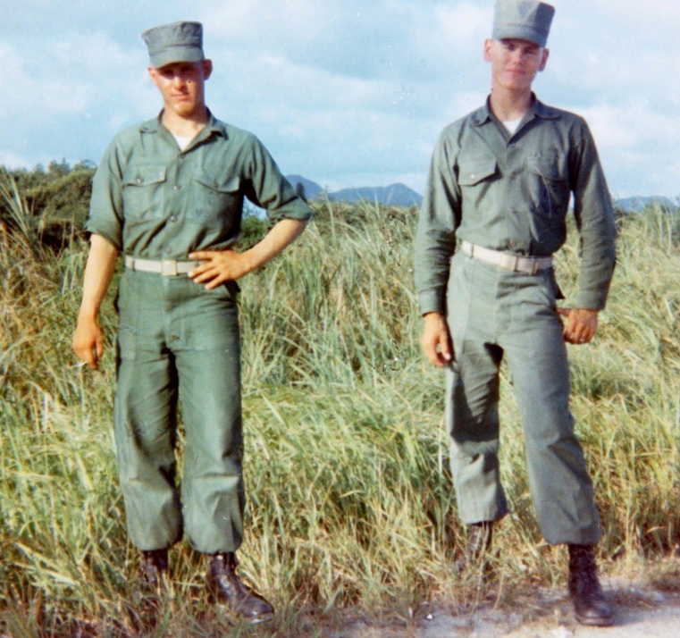 Former Maricopa County Attorney Rick Romley (Right) and his friend, David Thomas Schaeffer, in Vietnam.