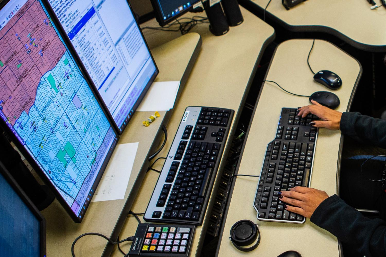Phoenix police dispatch center
