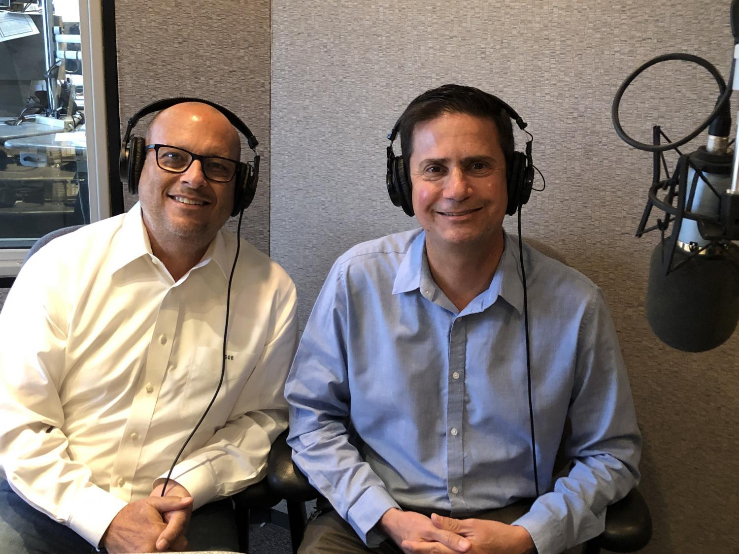 Stan Barnes (left) and David Lujan spoke to KJZZ
