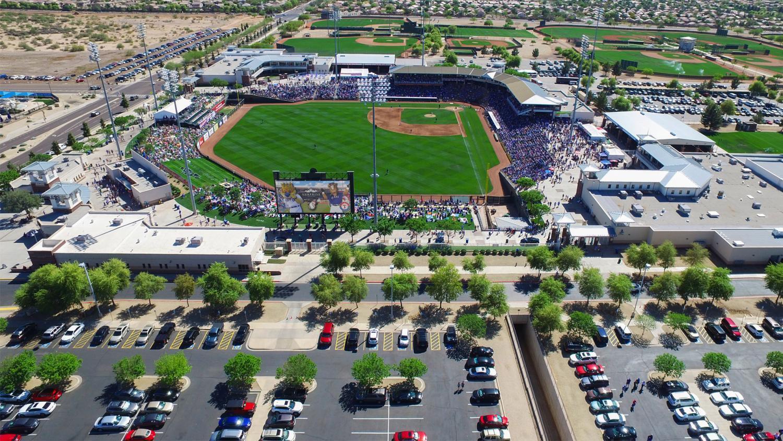 aerial view of surprise stadium