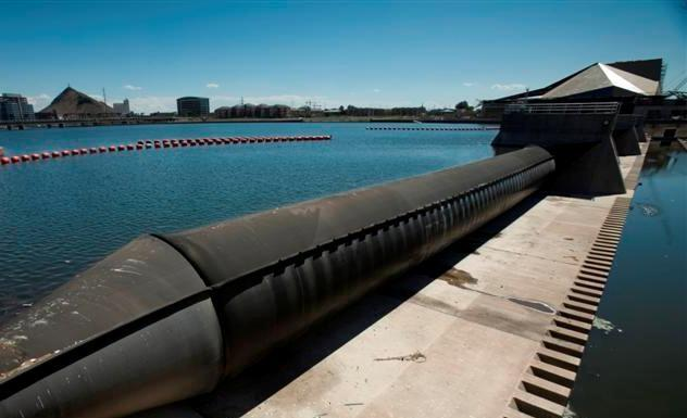 Tempe old inflatable dam