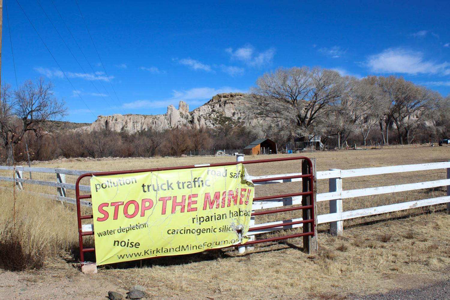 sign protesting mine opening