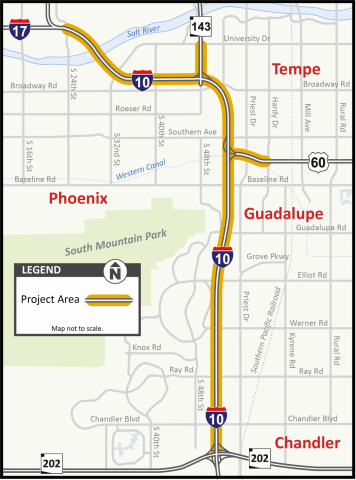 This is a map shows where the project would be taking place