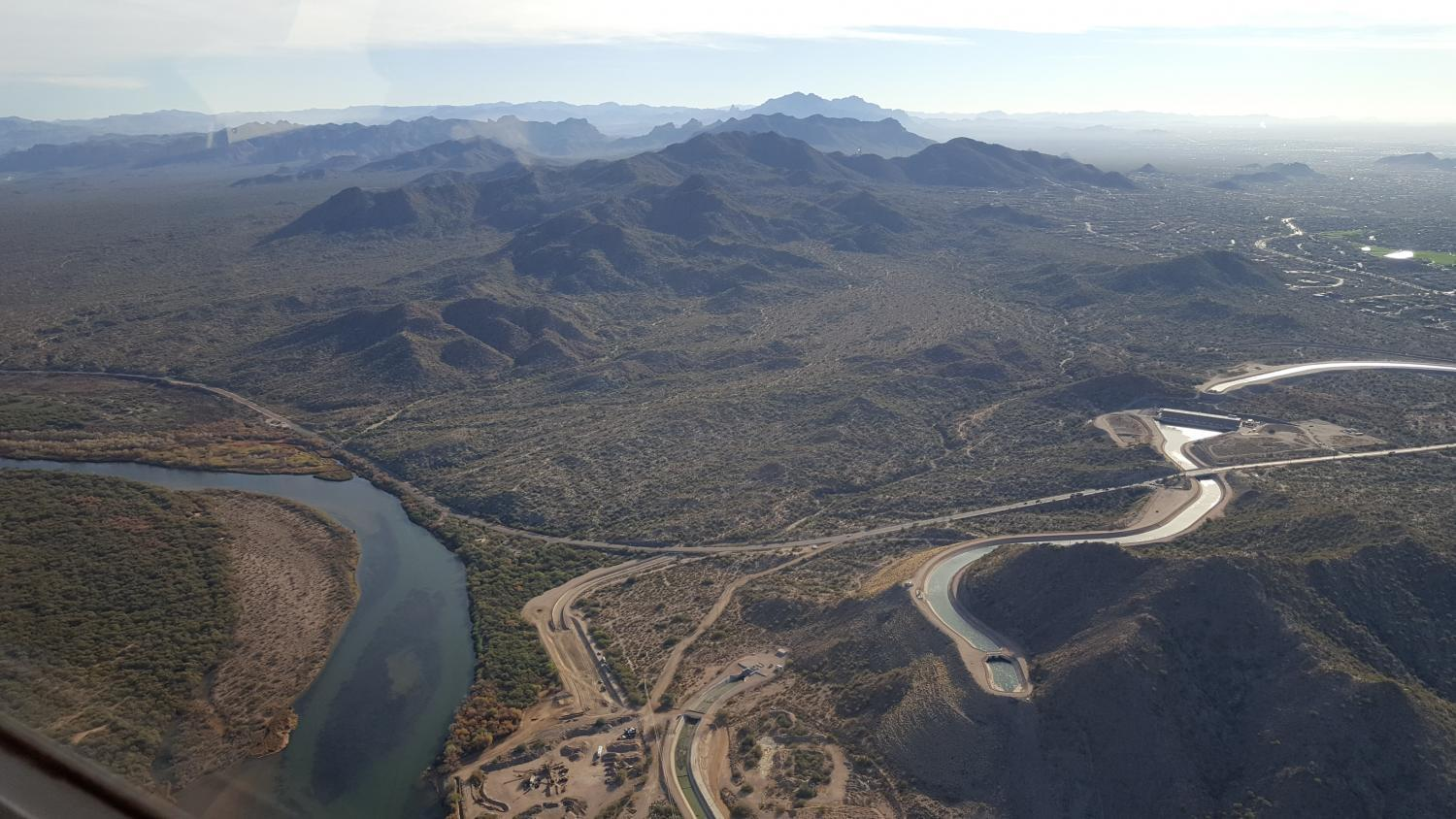 View above Granite Reef Dam