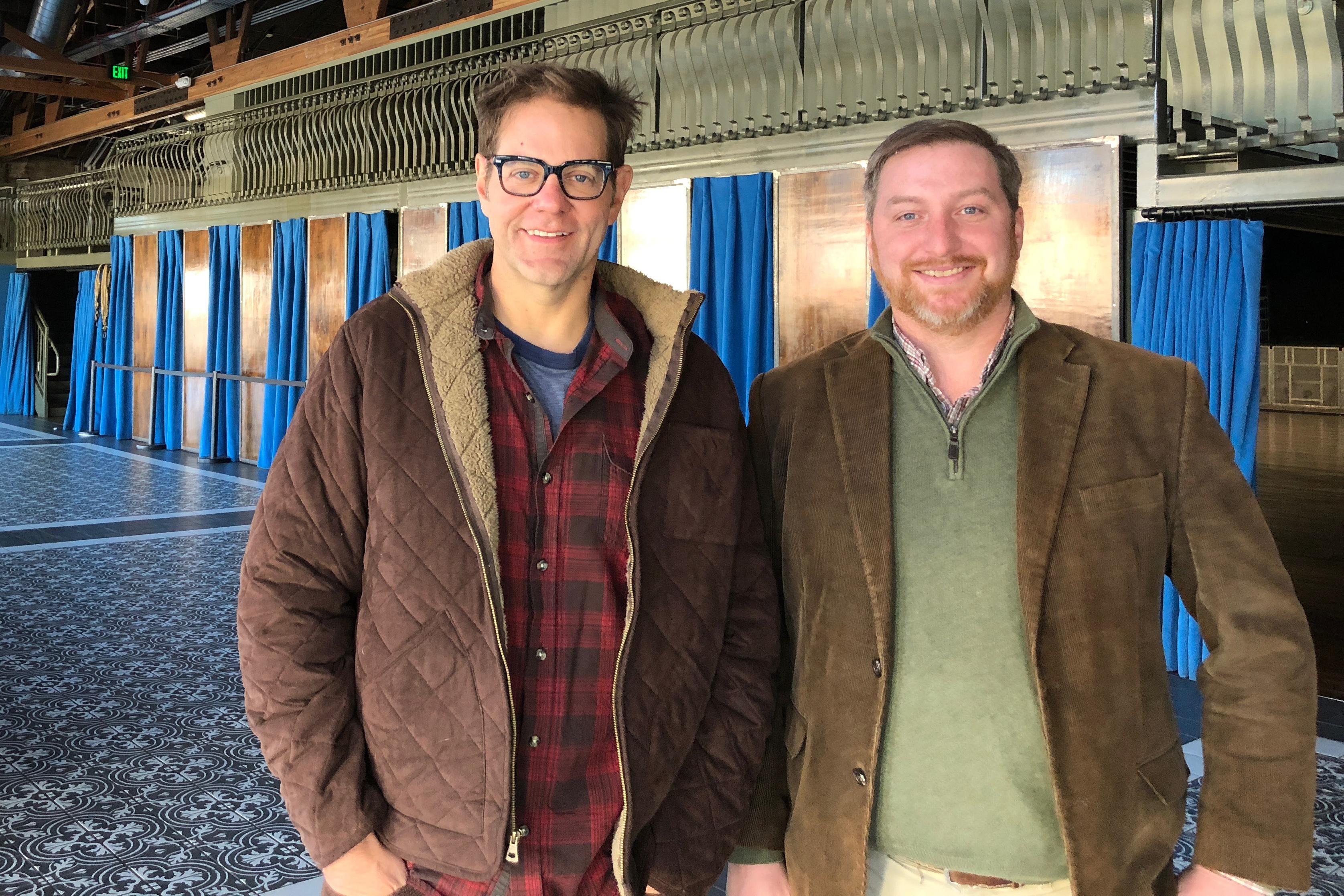 Van Buren partner Charlie Levy and Deputy State Historic Preservation Officer Christopher Cody