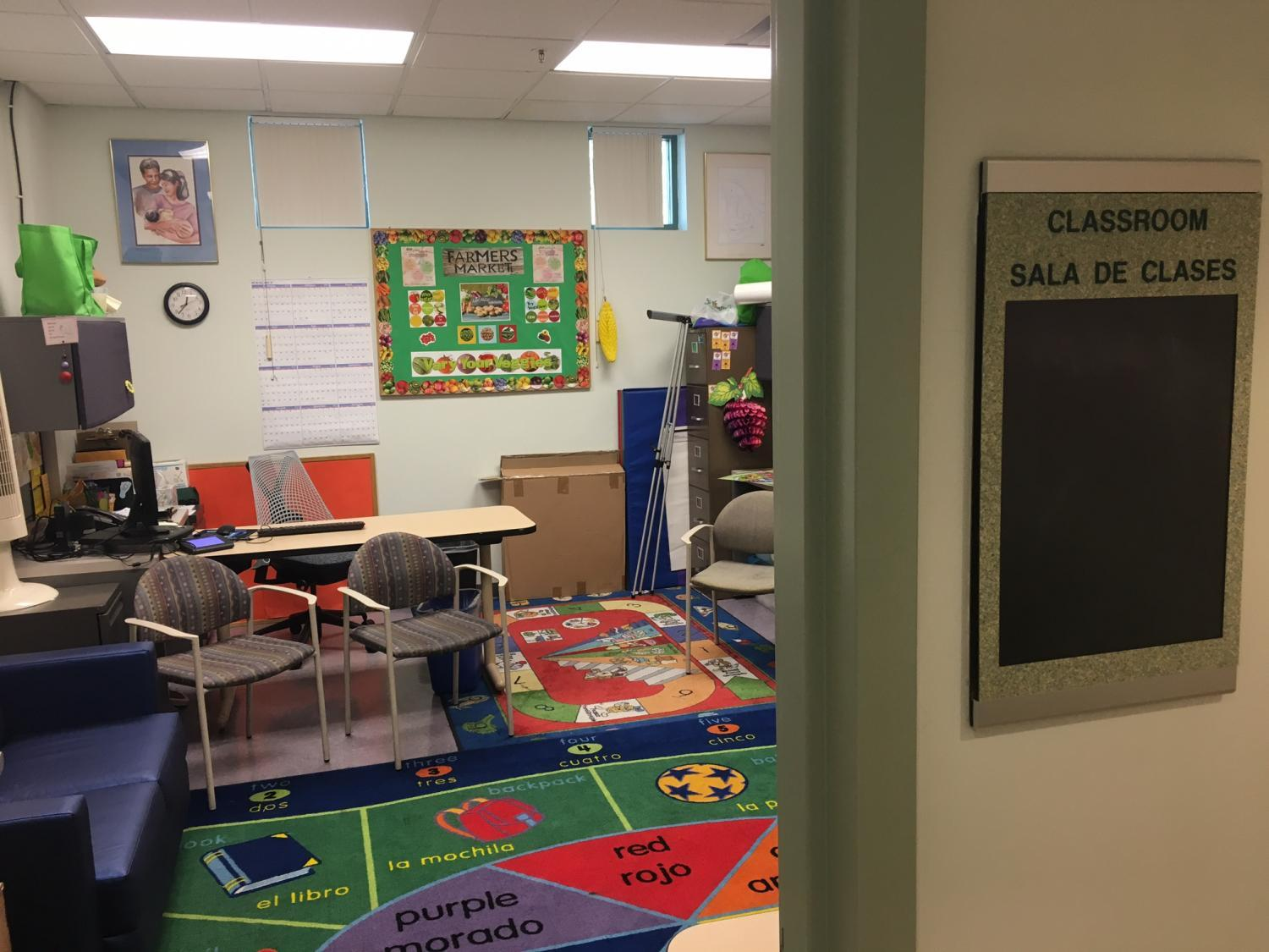 A classroom at the Avondale WIC office