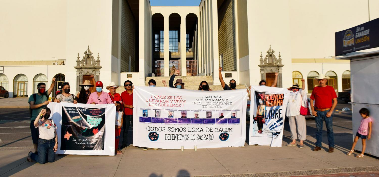 Protesters in Hermosillo